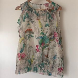 Ted Baker sleeveless floral top